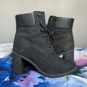 Timberlands- Black heeled boots